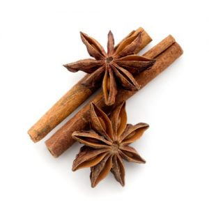 6056784 - star anis and cinnamon stick on white