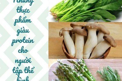 Những thực phẩm giàu protein cho người tập thể hình